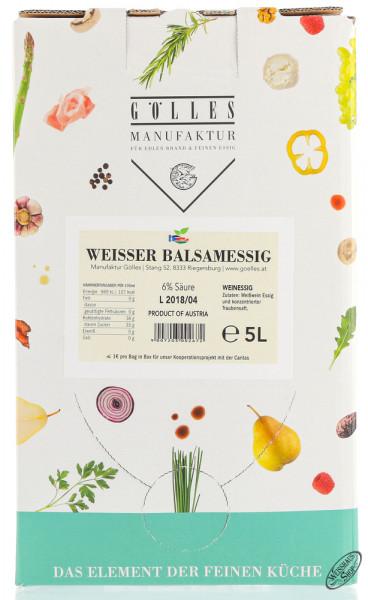 Gölles Weißer Balsam Essig 5,0l Bag in Box