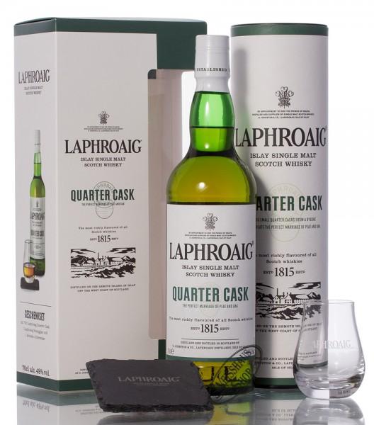 Laphroaig Quarter Cask Whisky Geschenkset 48% vol. 0,70l