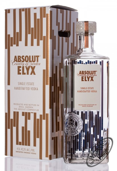 Absolut Elyx Vodka 42,3% vol. 4,50l Magnum