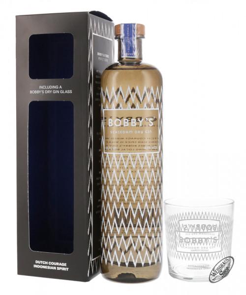 Bobby's Schiedam Dry Gin Geschenk-Set 42% vol. 0,70l