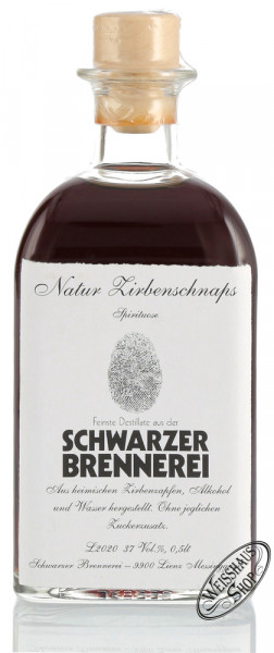 Schwarzer Zirbenschnaps 37% vol. 0,50l