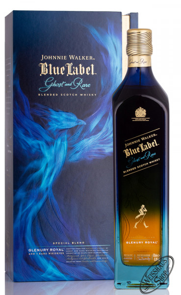 Johnnie Walker Blue Label Ghost and Rare Glenury Royal Whisky 43,8% vol. 0,70l