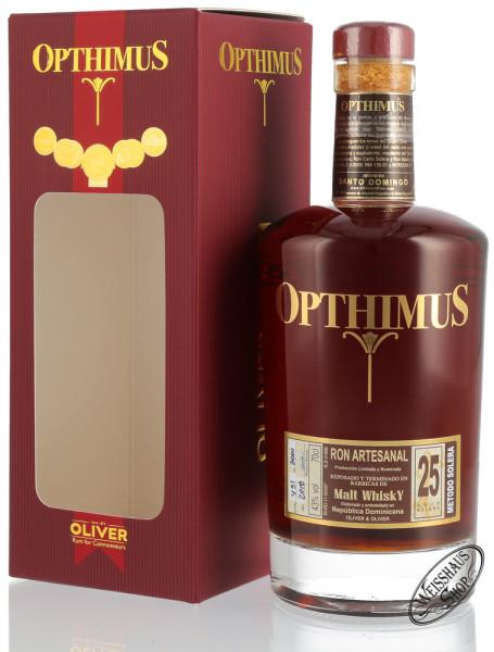 Opthimus 25 Anos Barricas de Malt Whisky 43% vol. 0,70l