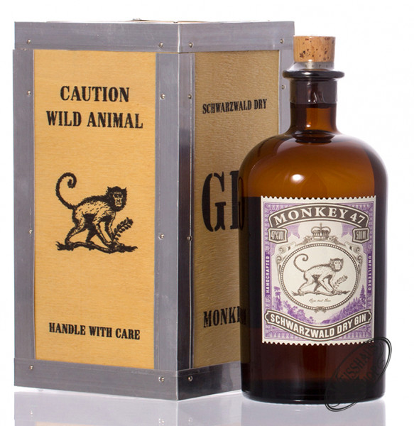 Monkey 47 Dry Gin in Holzkiste 47% vol. 0,50l