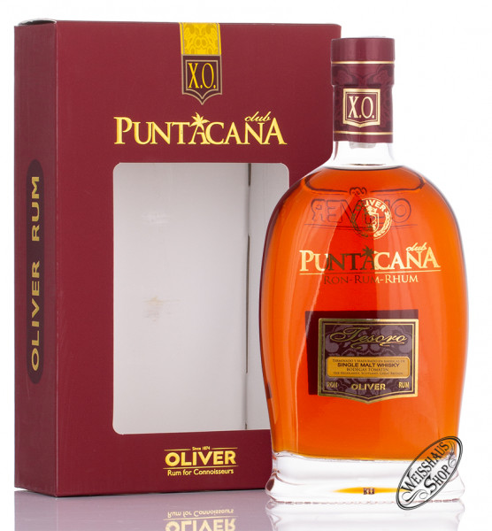 Puntacana Tesoro 15 YO Rum Malt Whisky Finish 38% vol. 0,70l