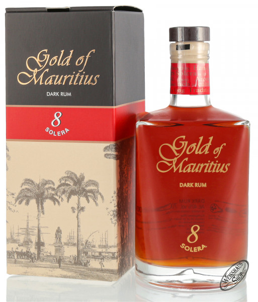 Gold of Mauritius 8 YO Solera Dark Rum 40% vol. 0,70l