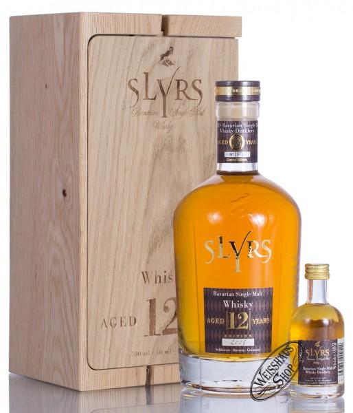 Slyrs 12 YO Bavarian Single Malt Whisky Edition 2017 im Holzblock 43% vol. 0,70l