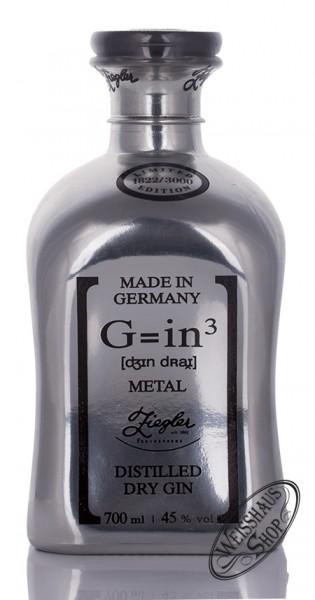 Ziegler G=in³ Metal Edition Dry Gin 45% vol. 0,70l