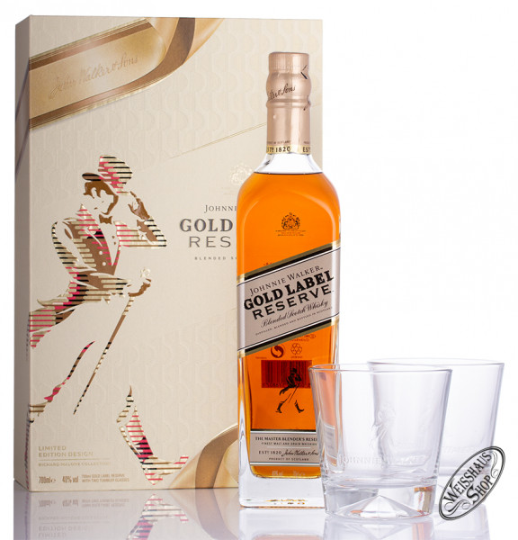 Johnnie Walker Gold Label Reserve Blended Scotch Whisky Geschenk-Set 40% vol. 0,70l