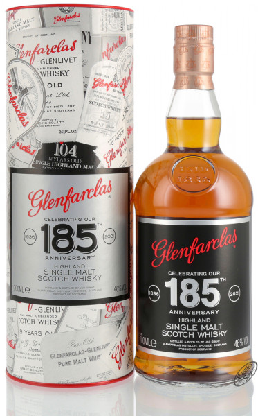 Glenfarclas 185th Anniversary Single Malt Whisky 46% vol. 0,70l