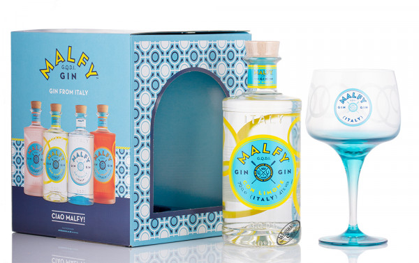 Malfy con Limone Gin Geschenk-Set 41% vol. 0,70l