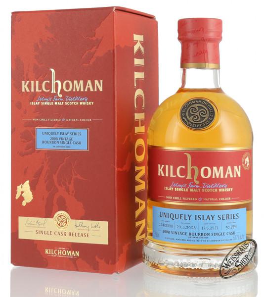 Kilchoman Vintage 2008 Bourbon Cask Islay Whisky 53,7% vol. 0,70l