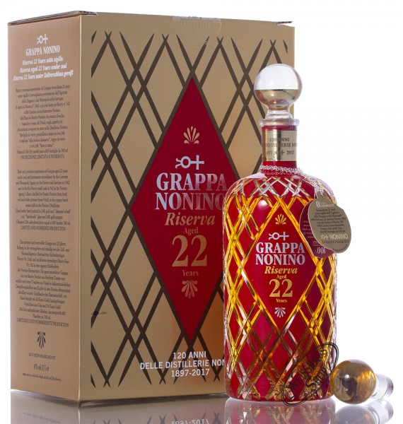 Nonino Grappa Riserva 22 Jahre Barrique 43% vol. 0,70l