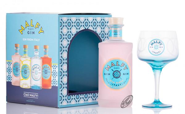 Malfy Rosa Gin Geschenk-Set 41% vol. 0,70l