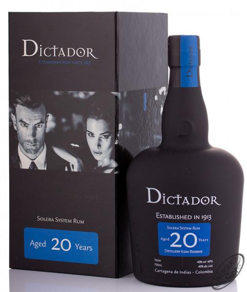 Dictador 20 YO Rum 40% vol. 0,70l