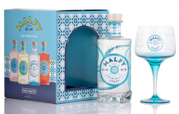 Malfy Originale Gin Geschenk-Set 41% vol. 0,70l