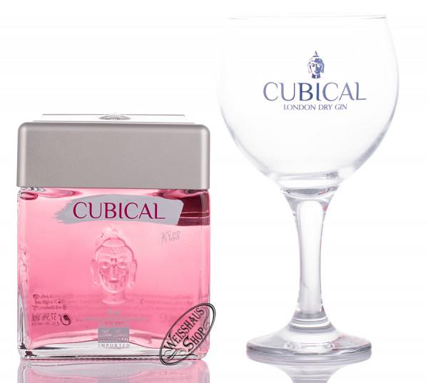 Cubical Premium Special Dry Kiss Gin Geschenk-Set 37,5% vol. 0,70l