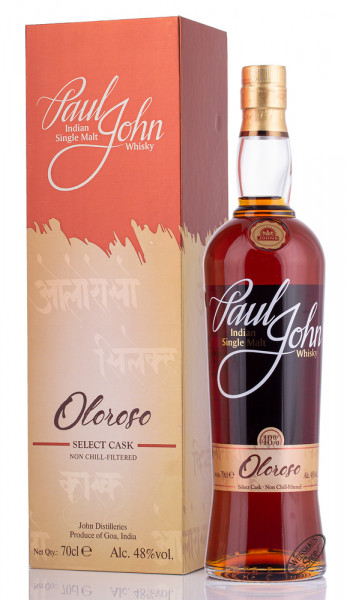 Paul John Oloroso Select Cask Whisky 48% vol. 0,70l