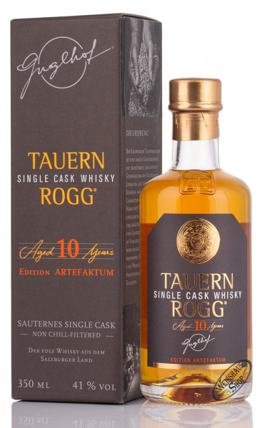 Guglhof TauernRogg Aged 10 YO Whisky 41% vol. 0,35l