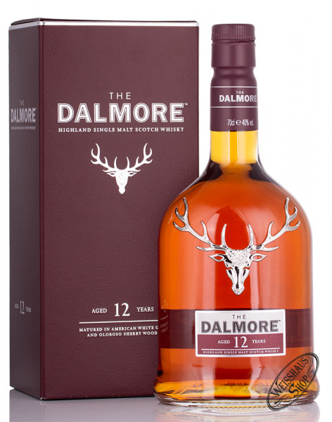 The Dalmore 12 Years Old Single Malt Whisky 40% vol. 0,70l