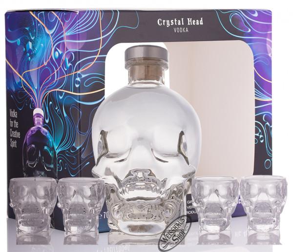 Crystal Head Vodka Geschenk-Set 40% vol. 0,70l