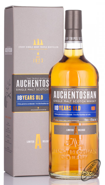 Auchentoshan 18 Years Old Single Malt Whisky 43% vol. 0,70l