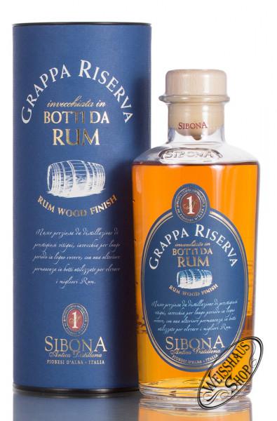Sibona Grappa Riserva Botti da Rum 44% vol. 0,50l