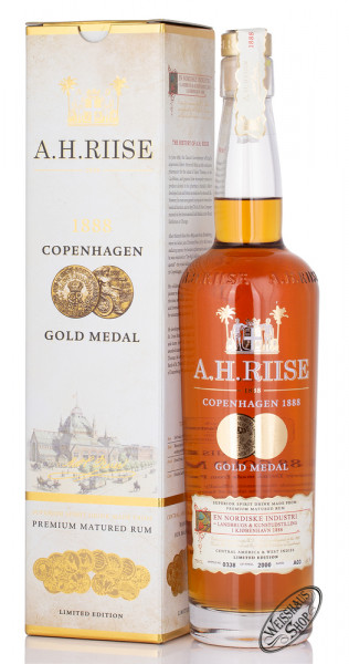 A.H. Riise 1888 Gold Medal Rum 40% vol. 0,70l