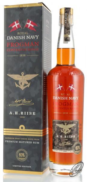 A.H. Riise Danish Navy Frogman Conventus Ranae Rum 60% vol. 0,70l
