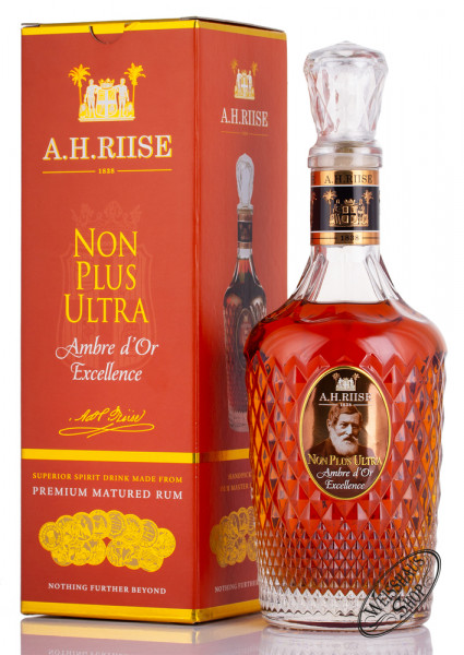 A.H. Riise Non Plus Ultra Ambre d'Or Excellence Rum 42% vol. 0,70l