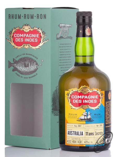 Compagnie des Indes Australia 11 YO Rum 43% vol. 0,70l