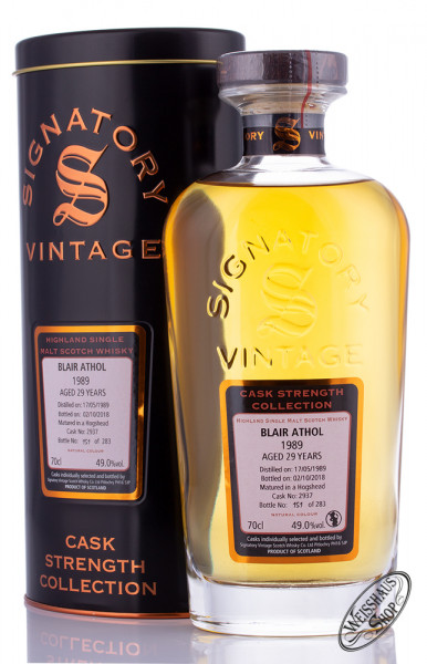 Blair Athol Vintage 1989 Signatory Whisky 49% vol. 0,70l