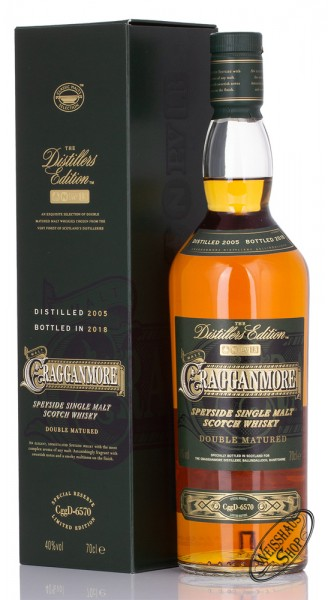 Cragganmore Distillers Edition 2018 Whisky 40% vol. 0,70l