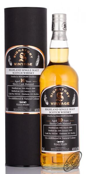 Mac Duff Vintage 2008 Signatory Un-Chillfiltered Whisky 46% vol. 0,70l