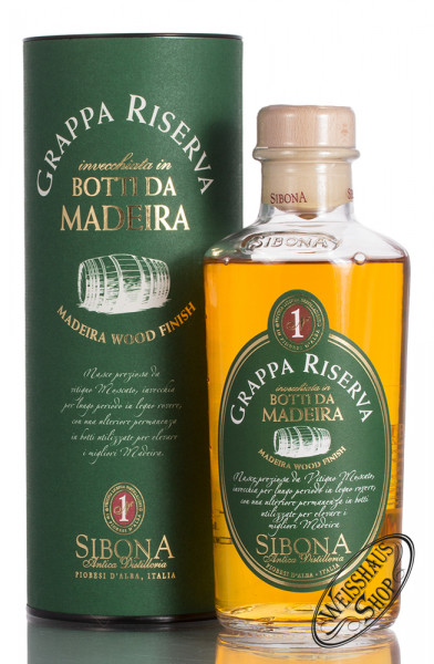 Sibona Grappa Riserva Madeira 44% vol. 0,50l