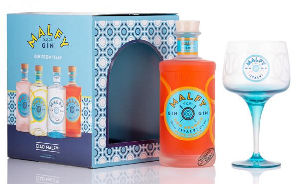 Malfy con Arancia Gin Geschenk-Set 41% vol. 0,70l