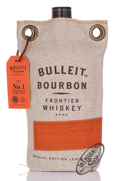 Bulleit Bourbon Whiskey im Lewis Bag 45% vol. 0,70l
