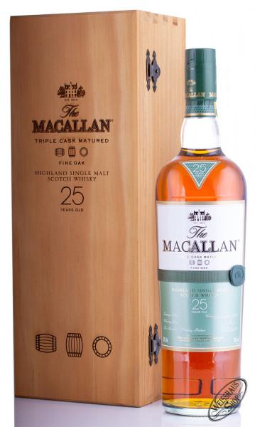 Macallan 25 YO Fine Oak Single Malt Whisky 43% vol. 0,70l