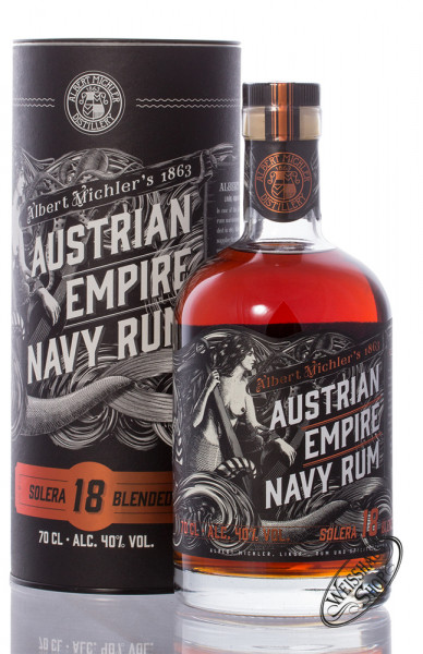 Austrian Empire Navy Rum Solera 18 YO 40% vol. 0,70l