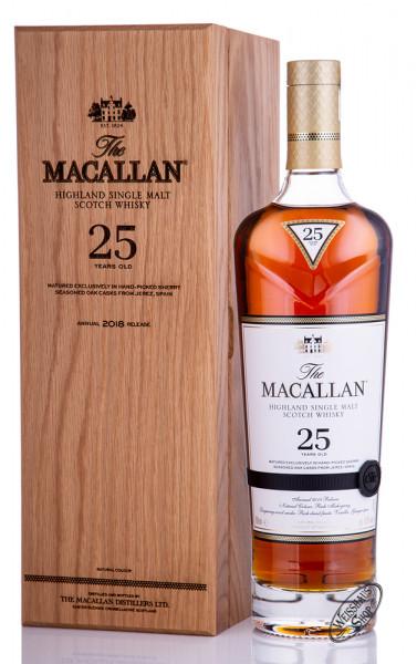 Macallan 25 YO Sherry Oak Release 2018 Whisky 43% vol. 0,70l